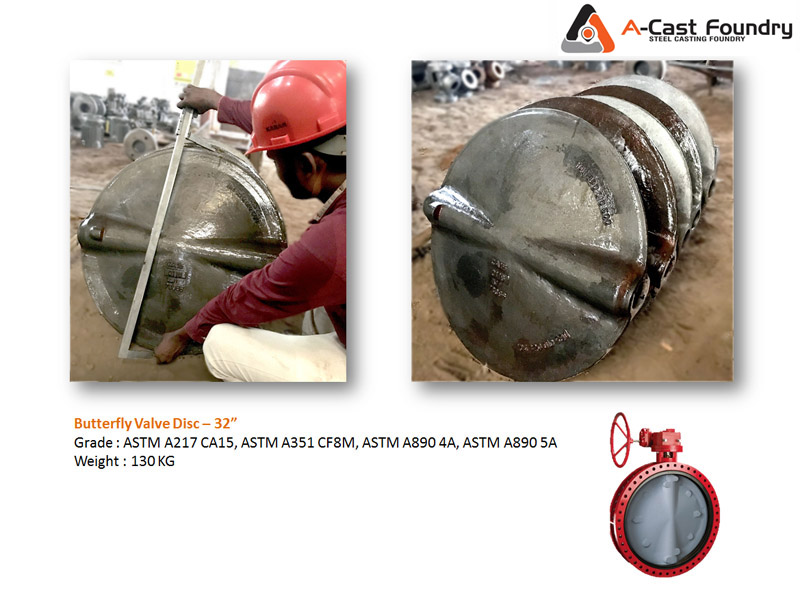 Steel Casting Butter Valve Disc - 32 inch