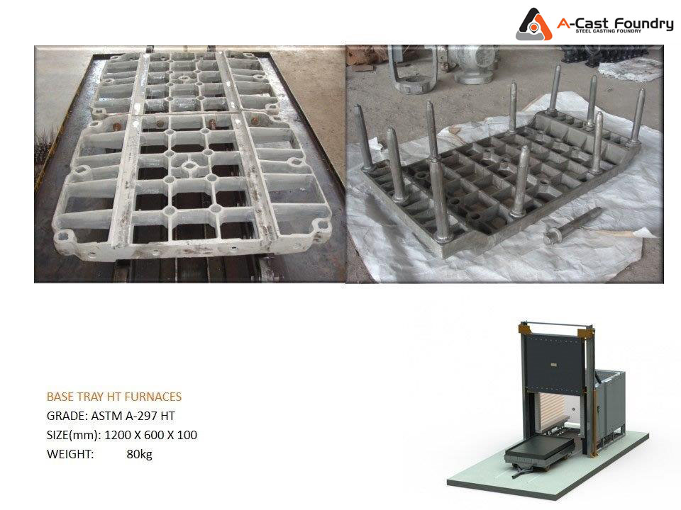 Steel Casting Base Tray HT Furnaces